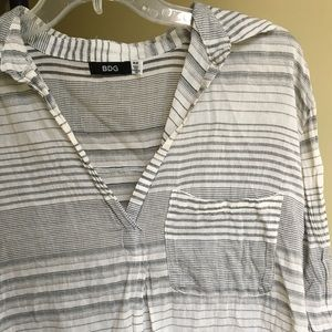 URBAN OUTFITTERS BDG Striped BOHO Blouse